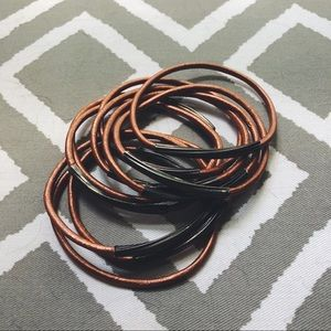 Set of Leather Bangles